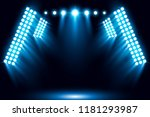 blue stage arena lighting... | Shutterstock .eps vector #1181293987