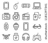 devices and gadgets icons set.... | Shutterstock .eps vector #1181297341