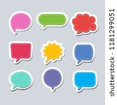 text balloons with different...   Shutterstock .eps vector #1181299051