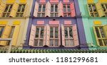 colored wood windows of the... | Shutterstock . vector #1181299681