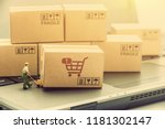 supply chain   logistic... | Shutterstock . vector #1181302147