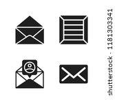 send icon. 4 send vector icons...   Shutterstock .eps vector #1181303341
