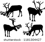 illustration with deer... | Shutterstock .eps vector #1181304427