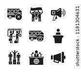 public icon. 9 public vector... | Shutterstock .eps vector #1181304631