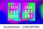 fluid neon gradient background...   Shutterstock .eps vector #1181309581