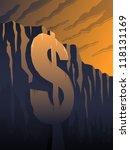 fiscal cliff   raster | Shutterstock . vector #118131169