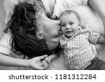 mom and baby  | Shutterstock . vector #1181312284