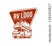 rv recreation illustration logo | Shutterstock .eps vector #1181313817