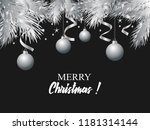 christmas card  silver and... | Shutterstock .eps vector #1181314144