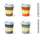 coffee cup vector. | Shutterstock .eps vector #1181315224