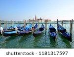 gondolas and san giorgio... | Shutterstock . vector #1181317597