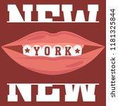 new york brooklyn sport wear...   Shutterstock .eps vector #1181325844