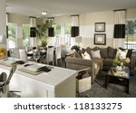 beautiful living room ... | Shutterstock . vector #118133275