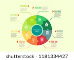 infographic templates with... | Shutterstock .eps vector #1181334427