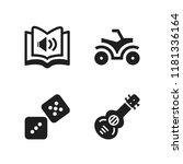 leisure icon. 4 leisure vector... | Shutterstock .eps vector #1181336164