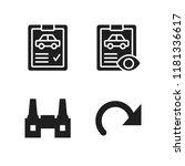 automotive icon. 4 automotive...   Shutterstock .eps vector #1181336617