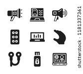 portable icon. 9 portable...   Shutterstock .eps vector #1181337361