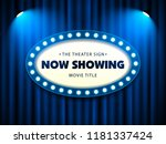 cinema theater retro sign on... | Shutterstock .eps vector #1181337424