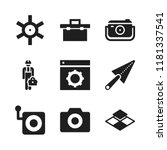 manual icon. 9 manual vector... | Shutterstock .eps vector #1181337541