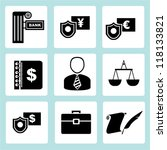 financial icon set  marketing... | Shutterstock .eps vector #118133821