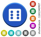 dice six round color beveled...   Shutterstock .eps vector #1181340907