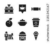 food icon. 9 food vector icons... | Shutterstock .eps vector #1181342167