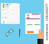 the choice of the resume  the... | Shutterstock .eps vector #1181343277