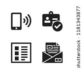 text icon. 4 text vector icons... | Shutterstock .eps vector #1181343877
