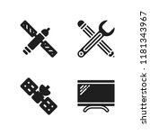 agency icon. 4 agency vector...   Shutterstock .eps vector #1181343967