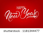 unique lettering happy new year ...   Shutterstock .eps vector #1181344477