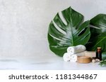 spa and massage treatments on... | Shutterstock . vector #1181344867