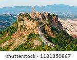 old italian village civita di... | Shutterstock . vector #1181350867