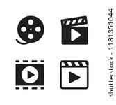 strip icon. 4 strip vector...   Shutterstock .eps vector #1181351044