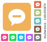 delete comment flat icons on... | Shutterstock .eps vector #1181352874