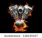 Chromed Motorcycle Engine On...