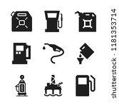 diesel icon. 9 diesel vector... | Shutterstock .eps vector #1181353714