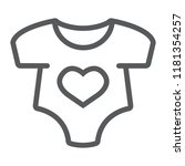 baby romper thin line icon ... | Shutterstock .eps vector #1181354257