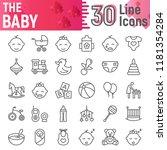 baby line icon set  child... | Shutterstock .eps vector #1181354284