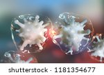 microbial colony. virus in... | Shutterstock . vector #1181354677