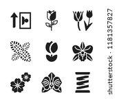 flora icon. 9 flora vector...   Shutterstock .eps vector #1181357827