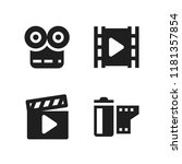 strip icon. 4 strip vector...   Shutterstock .eps vector #1181357854