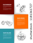 company profile template  ...   Shutterstock .eps vector #1181361727