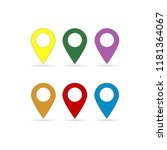 set of map pointer vector icon