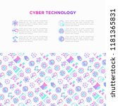 cyber technology concept with... | Shutterstock .eps vector #1181365831