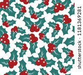 vector christmas pattern with... | Shutterstock .eps vector #1181369281