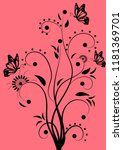 florid floral pattern... | Shutterstock .eps vector #1181369701