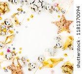 christmas frame. christmas... | Shutterstock . vector #1181370094