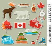 canada sticker icons set.... | Shutterstock .eps vector #1181372377