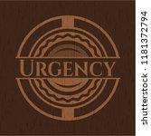 urgency wooden emblem | Shutterstock .eps vector #1181372794