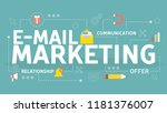 e mail marketing concept.... | Shutterstock .eps vector #1181376007